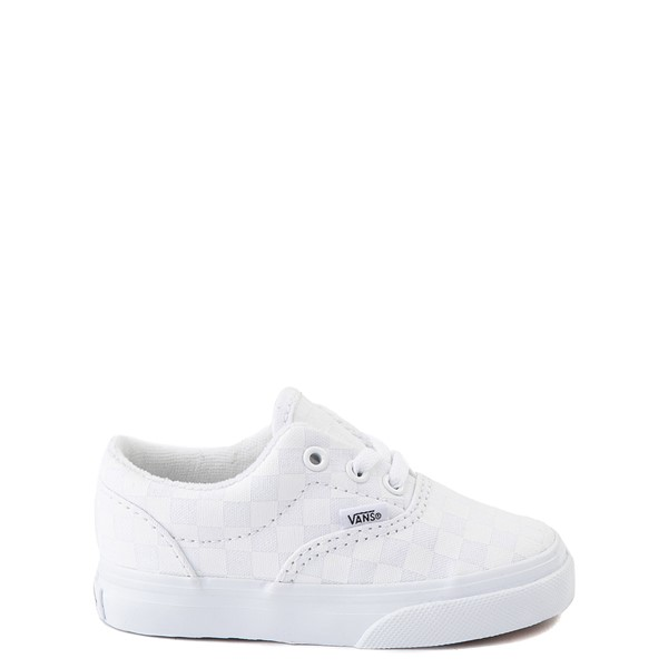 Main view of Vans Era Tonal Checkerboard Skate Shoe - Baby / Toddler - True White
