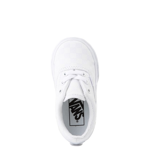 alternate view Vans Era Tonal Checkerboard Skate Shoe - Baby / Toddler - True WhiteALT2