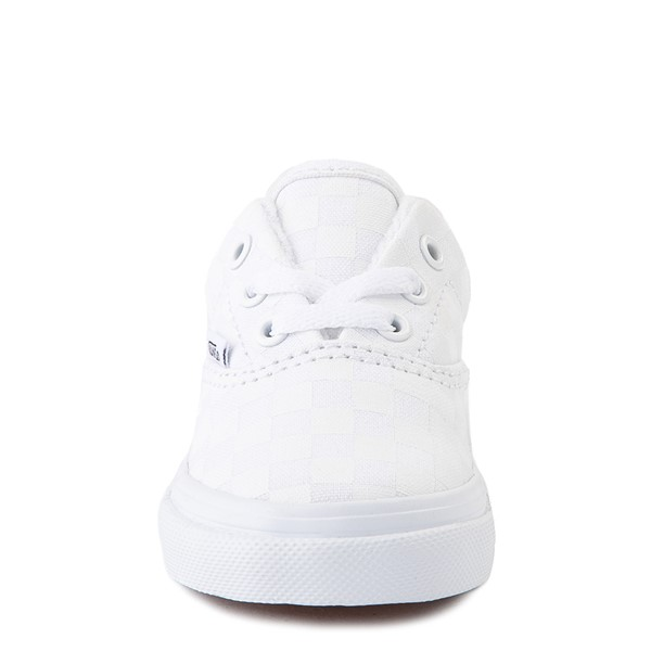 alternate view Vans Era Tonal Checkerboard Skate Shoe - Baby / Toddler - True WhiteALT4
