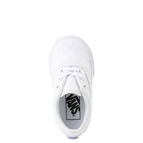 alternate view Vans Era Tonal Checkerboard Skate Shoe - Baby / Toddler - True WhiteALT4B