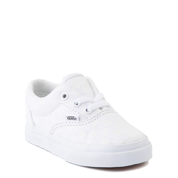 alternate view Vans Era Tonal Checkerboard Skate Shoe - Baby / Toddler - True WhiteALT5