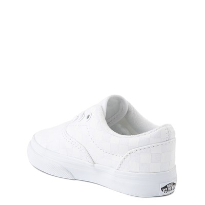 Alternate view of Vans Era Tonal Checkerboard Skate Shoe - Baby / Toddler - True White