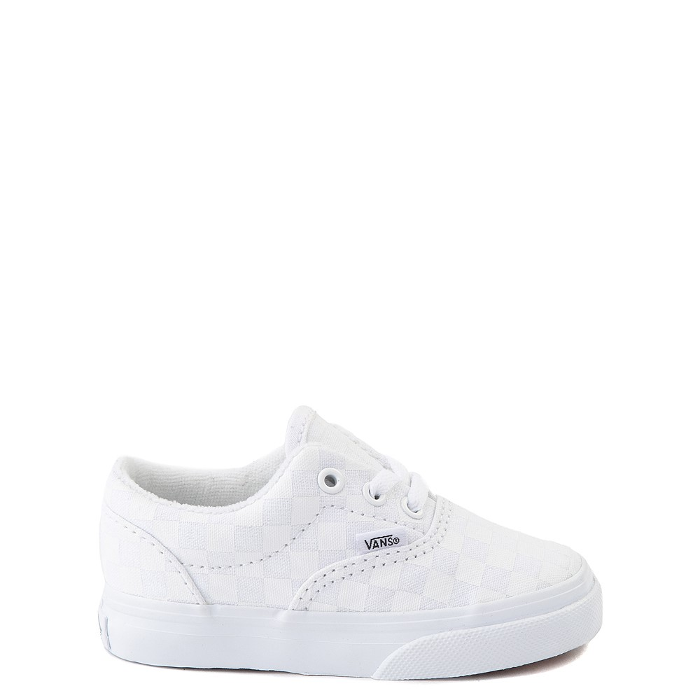 Vans Era Tonal Checkerboard Skate Shoe - Baby / Toddler - True White