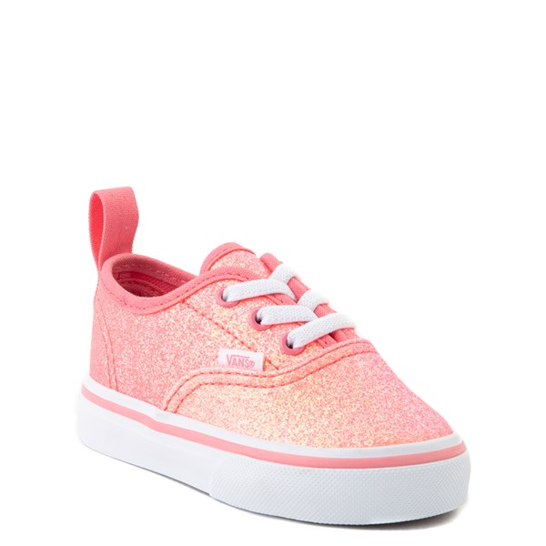 alternate view Vans Authentic Glitter Skate Shoe - Baby / Toddler - Neon PinkALT1