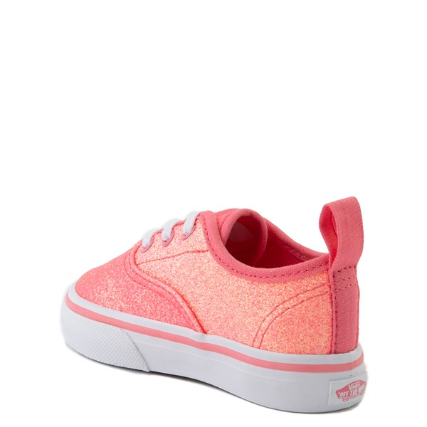 alternate view Vans Authentic Glitter Skate Shoe - Baby / Toddler - Neon PinkALT2