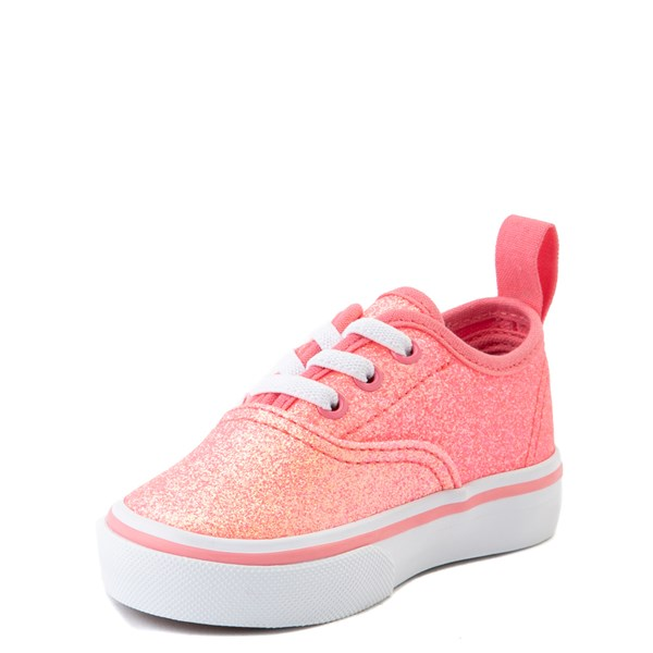 alternate view Vans Authentic Glitter Skate Shoe - Baby / Toddler - Neon PinkALT3