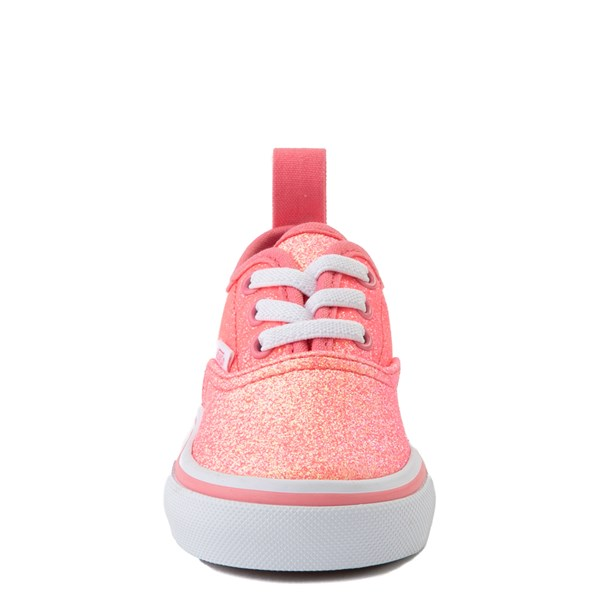 alternate view Vans Authentic Glitter Skate Shoe - Baby / Toddler - Neon PinkALT4