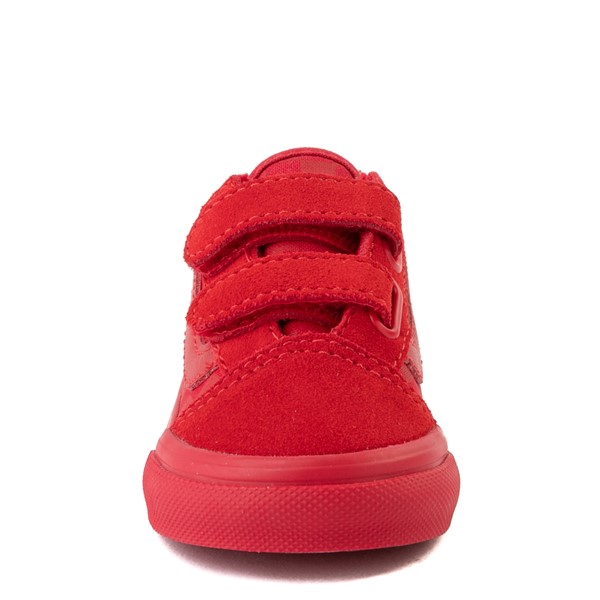 alternate view Vans Old Skool V Tonal Checkerboard Skate Shoe - Baby / Toddler - Racing RedALT4