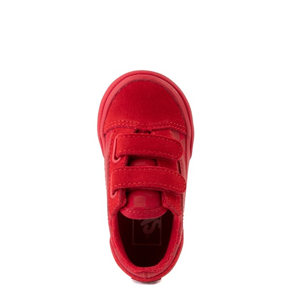 alternate view Vans Old Skool V Tonal Checkerboard Skate Shoe - Baby / Toddler - Racing RedALT4B