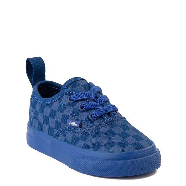 alternate view Vans Authentic Tonal Checkerboard Skate Shoe - Baby / Toddler - True BlueALT1