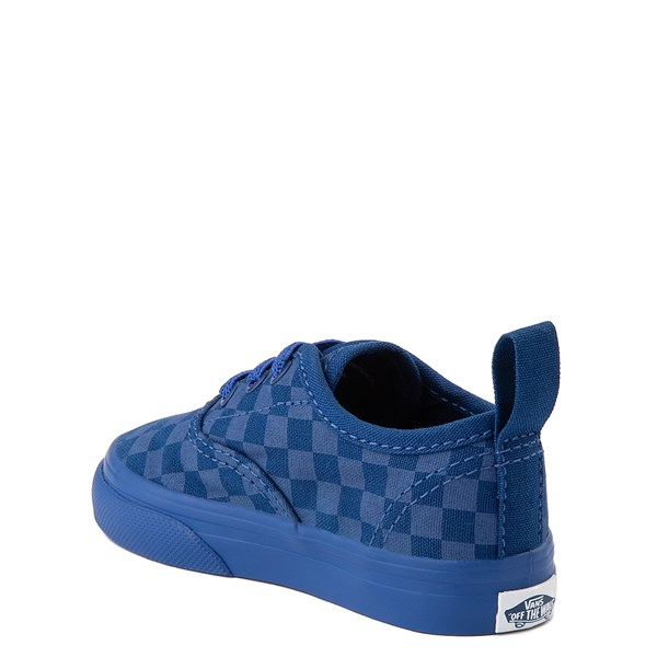 alternate view Vans Authentic Tonal Checkerboard Skate Shoe - Baby / Toddler - True BlueALT2