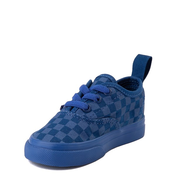 alternate view Vans Authentic Tonal Checkerboard Skate Shoe - Baby / Toddler - True BlueALT3