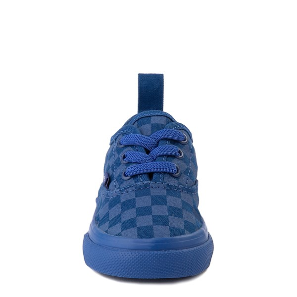 alternate view Vans Authentic Tonal Checkerboard Skate Shoe - Baby / Toddler - True BlueALT4