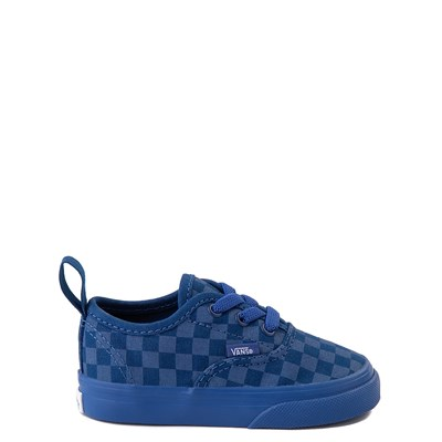 Main view of Vans Authentic Tonal Checkerboard Skate Shoe - Baby / Toddler - True Blue