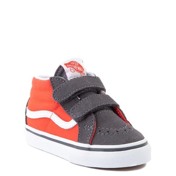 alternate view Vans Sk8 Mid Reissue V Skate Shoe - Baby / Toddler - Grenadine / PeriscopeALT1
