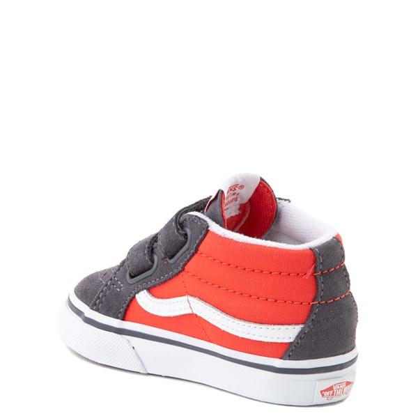 alternate view Vans Sk8 Mid Reissue V Skate Shoe - Baby / Toddler - Grenadine / PeriscopeALT2