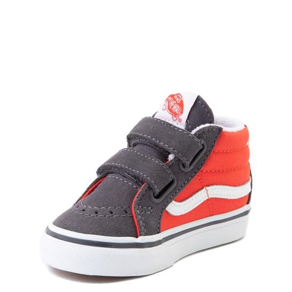 alternate view Vans Sk8 Mid Reissue V Skate Shoe - Baby / Toddler - Grenadine / PeriscopeALT3