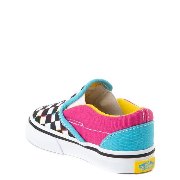 alternate view Vans Slip On Checkerboard Skate Shoe - Baby / Toddler - MultiALT1