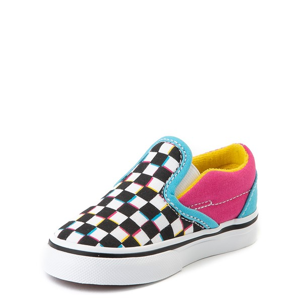 alternate view Vans Slip On Checkerboard Skate Shoe - Baby / Toddler - MultiALT2