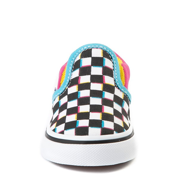 alternate view Vans Slip On Checkerboard Skate Shoe - Baby / Toddler - MultiALT4