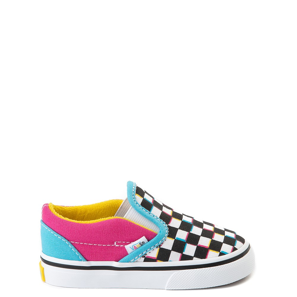 Vans Slip On Checkerboard Skate Shoe - Baby / Toddler - Multi