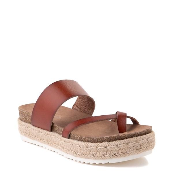 alternate view Womens Madden Girl Cheryl Espadrille Platform Sandal - CognacALT1