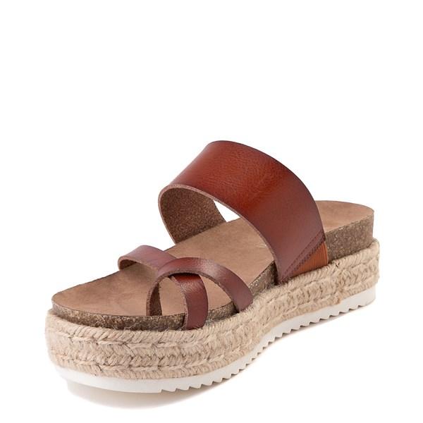 alternate view Womens Madden Girl Cheryl Espadrille Platform Sandal - CognacALT3