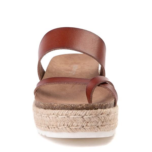 alternate view Womens Madden Girl Cheryl Espadrille Platform Sandal - CognacALT4