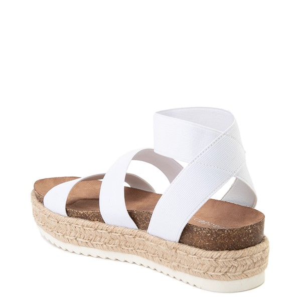 alternate view Womens Madden Girl Carly Espadrille Platform Sandal - WhiteALT1