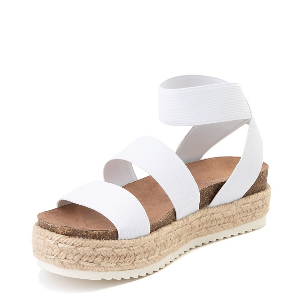 alternate view Womens Madden Girl Carly Espadrille Platform Sandal - WhiteALT2