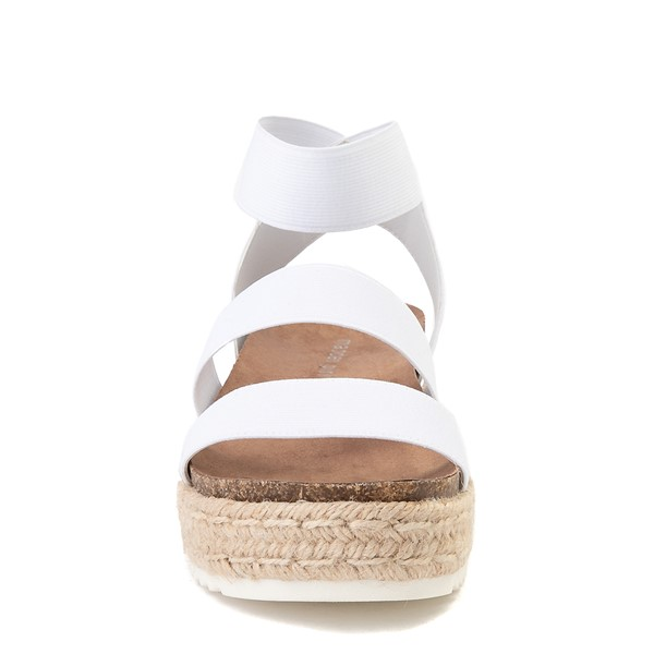 alternate view Womens Madden Girl Carly Espadrille Platform Sandal - WhiteALT4