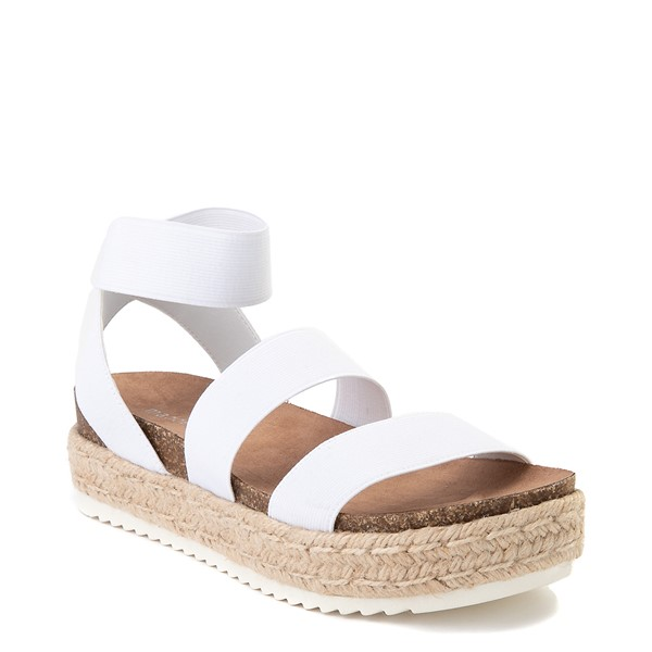 alternate view Womens Madden Girl Carly Espadrille Platform Sandal - WhiteALT5