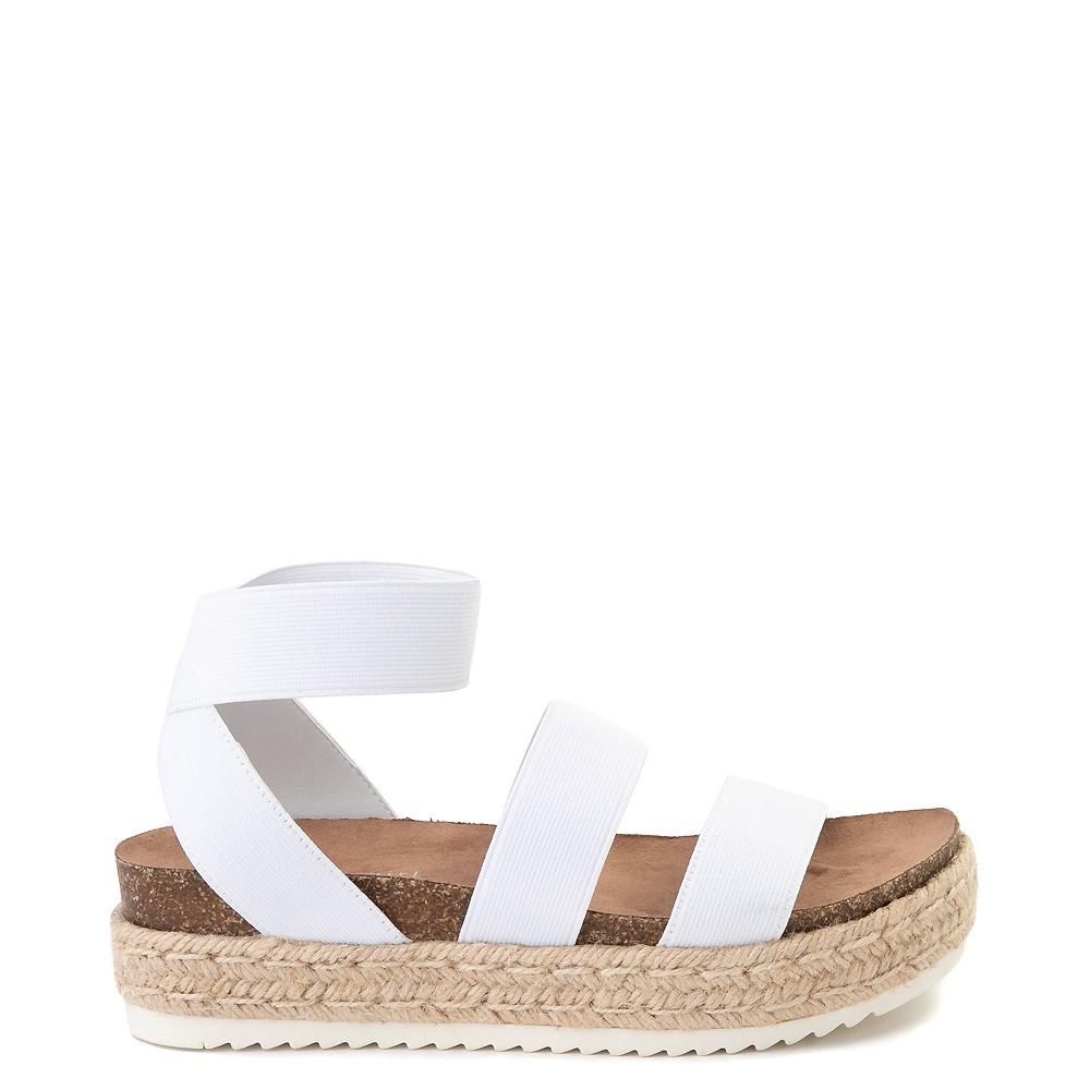 Womens Madden Girl Carly Espadrille Platform Sandal - White