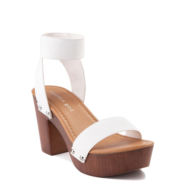 alternate view Womens Madden Girl Lyon Heel - WhiteALT1
