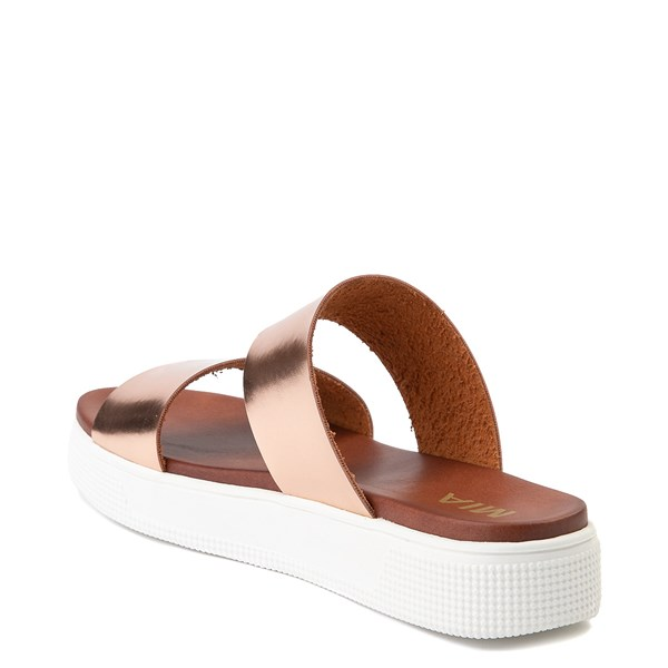 alternate view Womens MIA Lilien Platform Slide Sandal - Rose GoldALT2