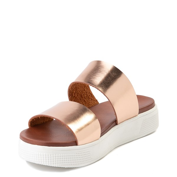 alternate view Womens MIA Lilien Platform Slide Sandal - Rose GoldALT3