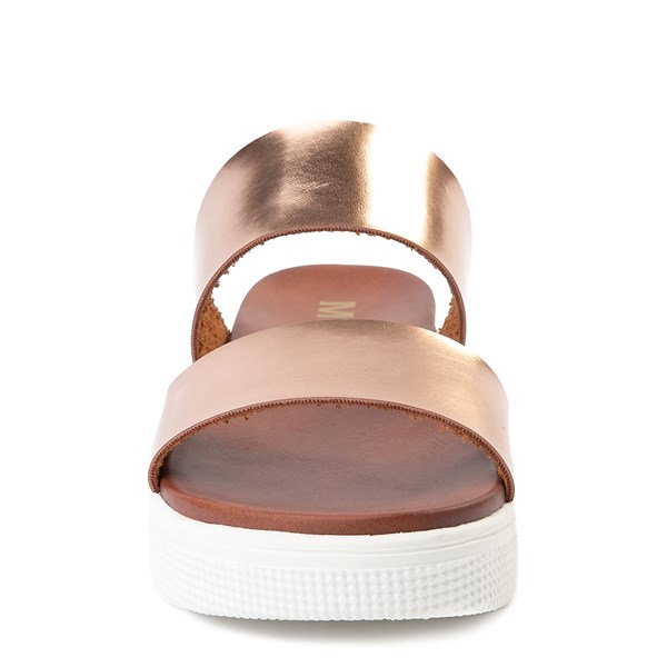 alternate view Womens MIA Lilien Platform Slide Sandal - Rose GoldALT4