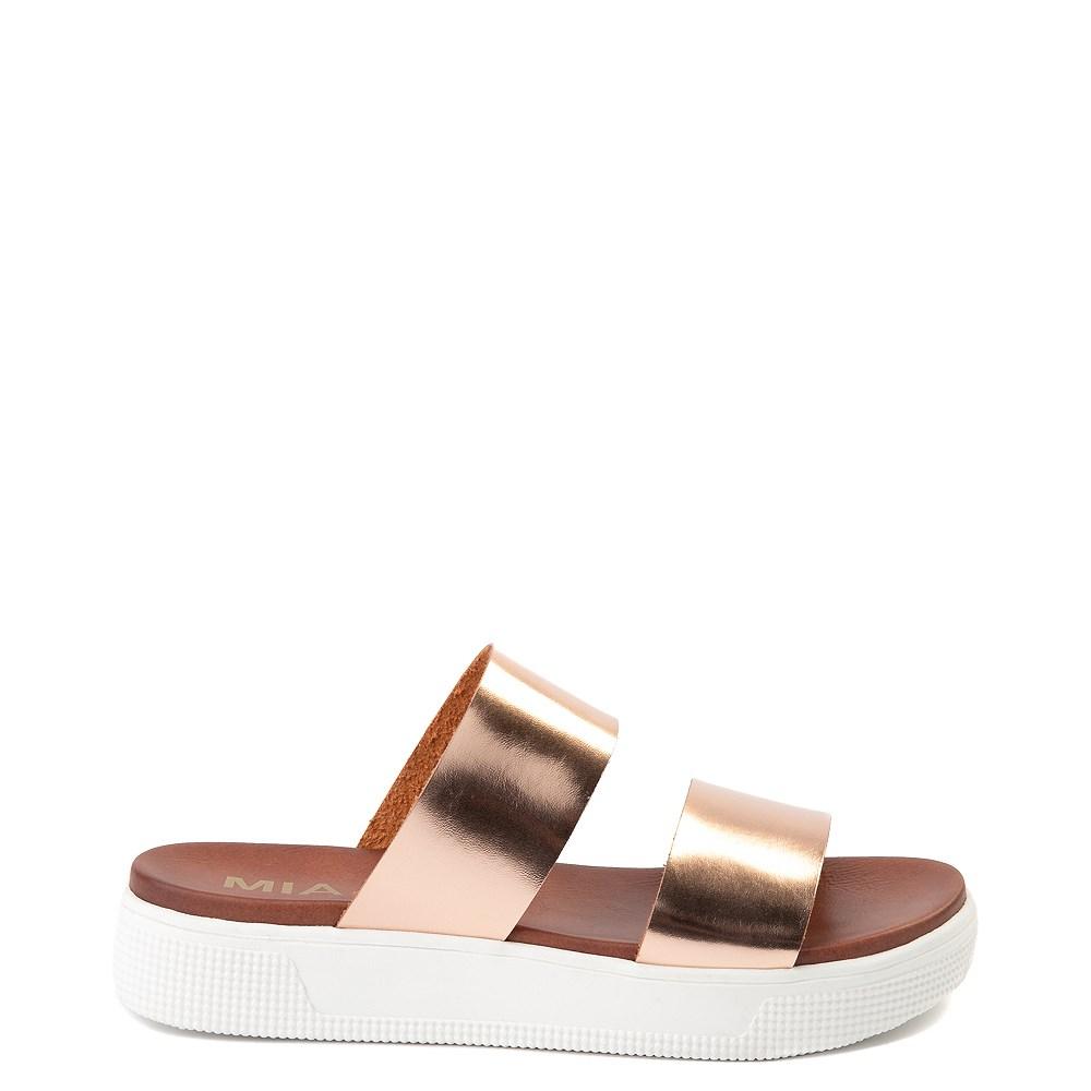 Womens MIA Lilien Platform Slide Sandal - Rose Gold