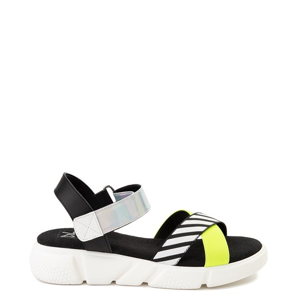 Womens Dirty Laundry All Time Sandal - Black / White / Yellow