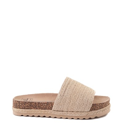 Main view of Womens Dirty Laundry Dayton Platform Slide Sandal - Natural