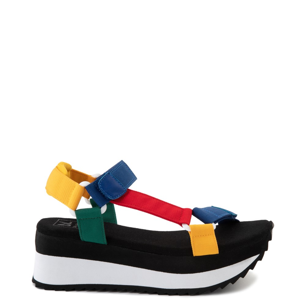 Womens Dirty Laundry Going Out Platform Sandal - Black / Multi