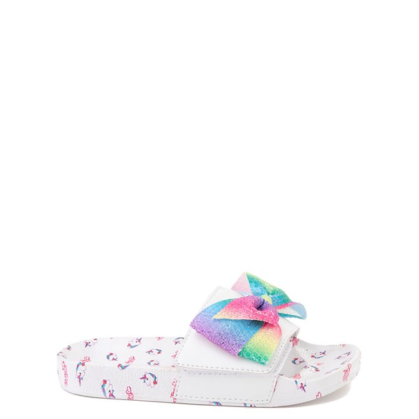 Main view of JoJo Siwa™ Unicorn Slide Sandal - Toddler / Little Kid - White / Multi
