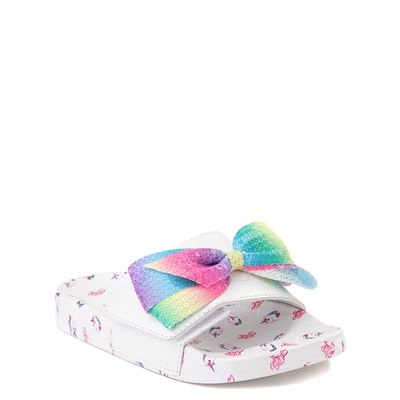 Alternate view of JoJo Siwa™ Unicorn Slide Sandal - Toddler / Little Kid - White / Multi