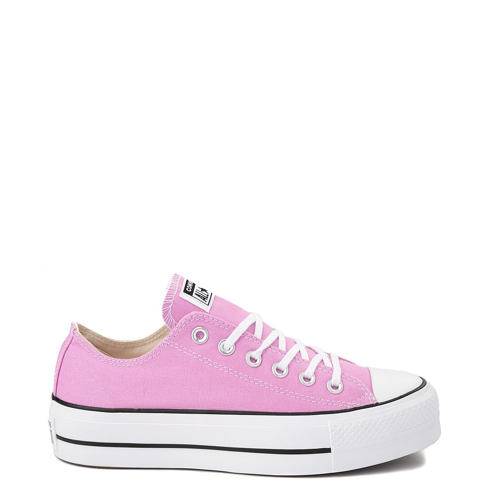 Womens Converse Chuck Taylor All Star Lo Platform Sneaker - Peony Pink