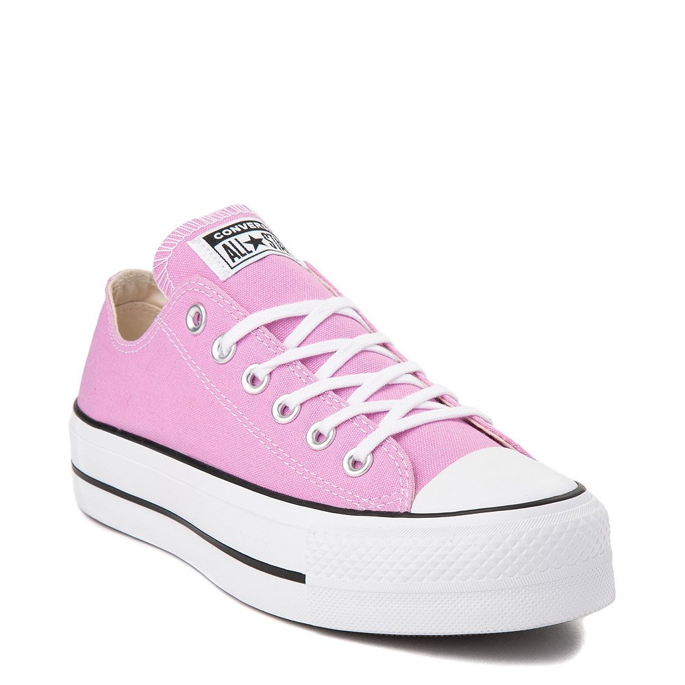 Womens Converse Chuck Taylor All Star Lo Platform Sneaker Peony Pink