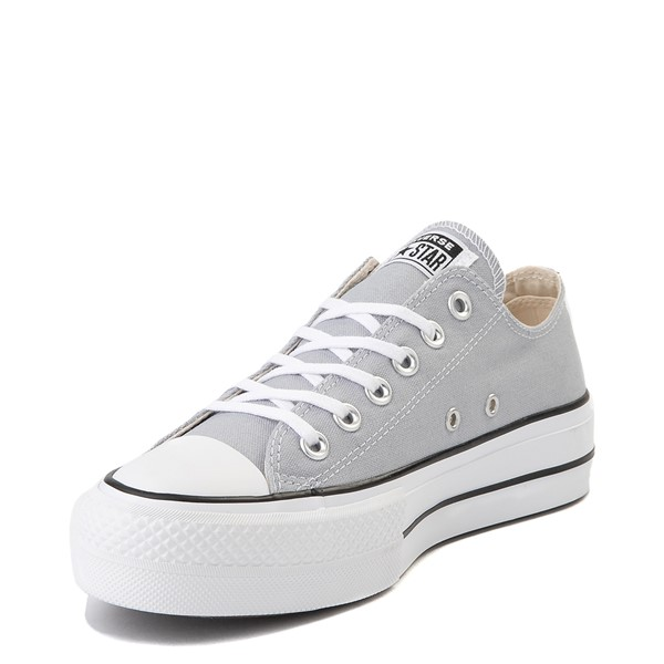 alternate view Womens Converse Chuck Taylor All Star Lo Platform Sneaker - Wolf GrayALT2