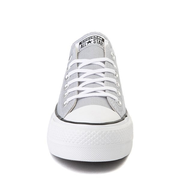 alternate view Womens Converse Chuck Taylor All Star Lo Platform Sneaker - Wolf GrayALT4