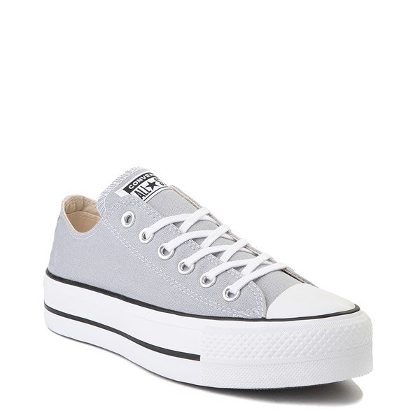 alternate view Womens Converse Chuck Taylor All Star Lo Platform Sneaker - Wolf GrayALT5