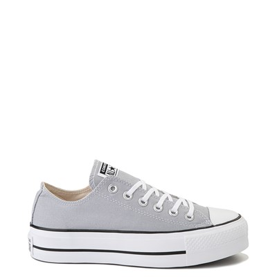 Main view of Womens Converse Chuck Taylor All Star Lo Platform Sneaker - Wolf Gray