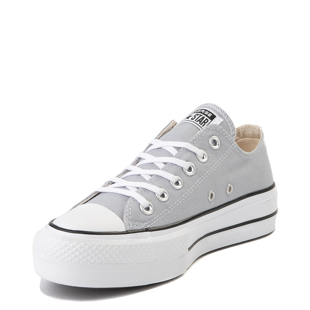 converse leather white platform
